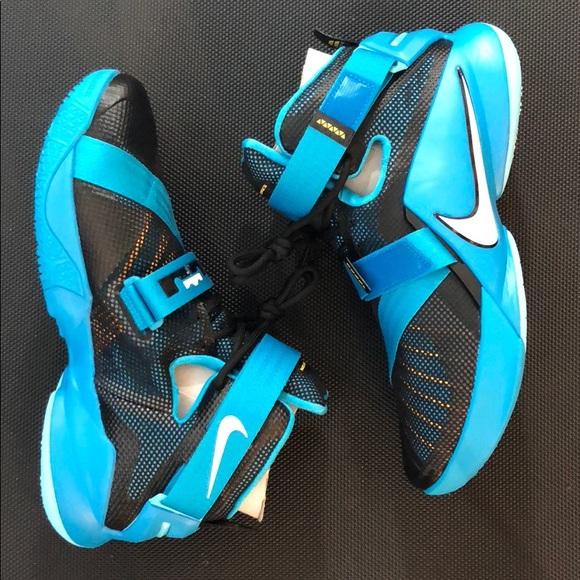 separation shoes c2da3 60400 Nike Zoom LeBron Soldier 9 Black/Blue Lagoon NWT